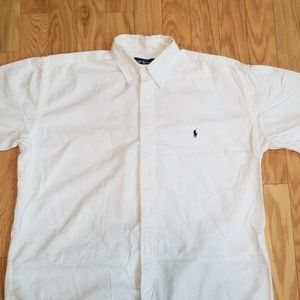 Polo by Ralph Lauren Shirts - Polo Ralph Lauren White Short Sleeved Shirt